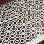very fun black and white tile