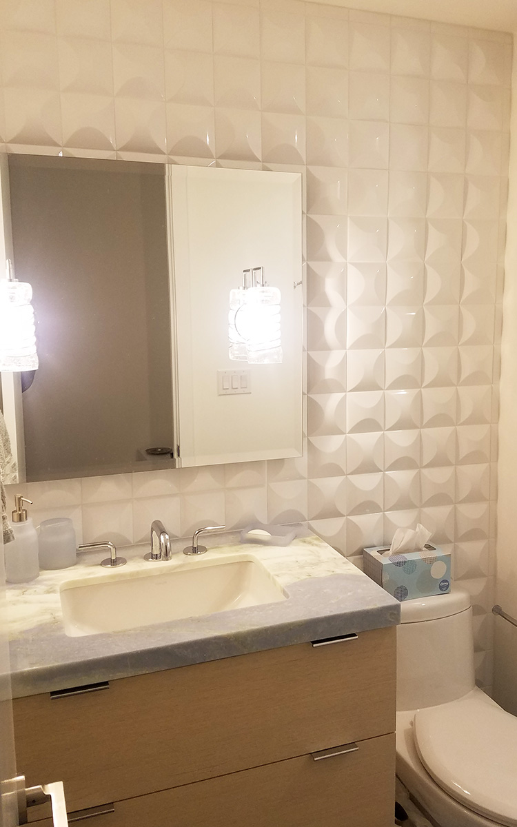 3D Tiled Shower and Wall