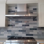 tri-color subway backsplash