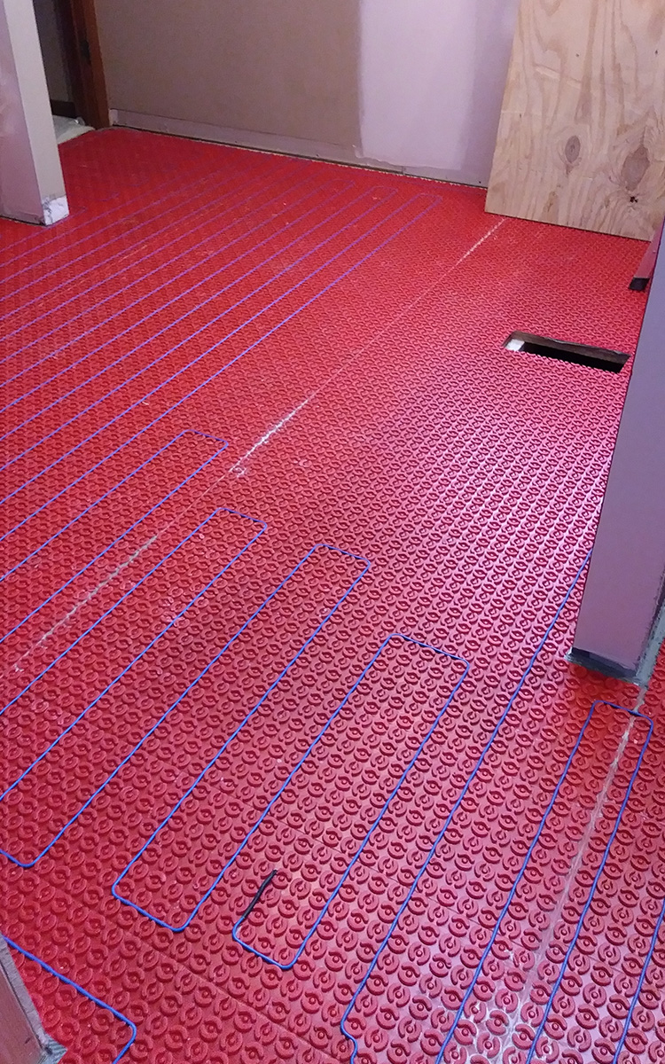 Heated floor cables and mat