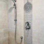 mosaic insert in shower