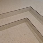 steps with Schluter edging