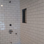 subway tile in tub surround