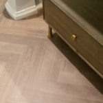River Reno Bathroom, Herringbone Engineered Hardwood