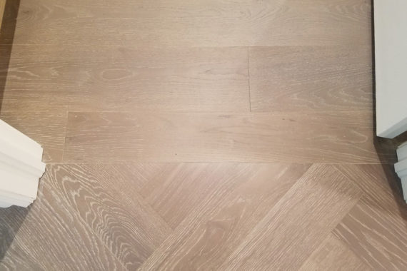 River Reno Herringbone Engineered Hardwood Close Up Detail