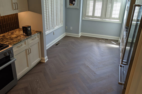 River Reno Kitchen Engineered Hardwood Herringbone