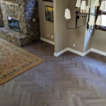 River Reno Living Room Engineered Hardwood Herringbone